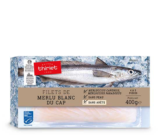 Lot de 2 boites de Filets de merlu blanc du Cap