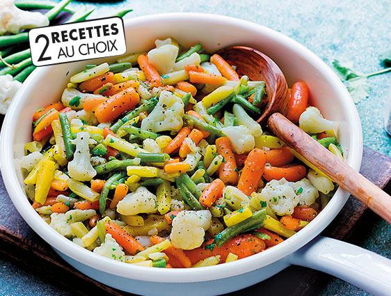 Légumes cuisinés - Poêlées de légumes en promotion