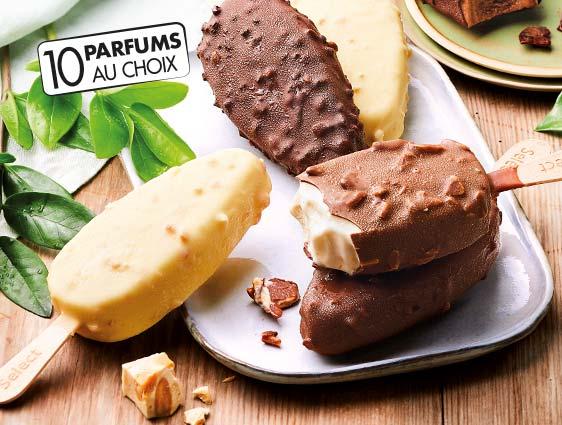 Desserts glacés - Bâtonnets de glace en promotion