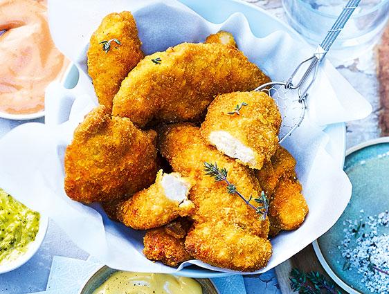 Viandes panées - Aiguilettes de poulet panées