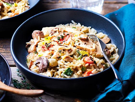 Plats cuisinés - Blanquette de poulet et riz