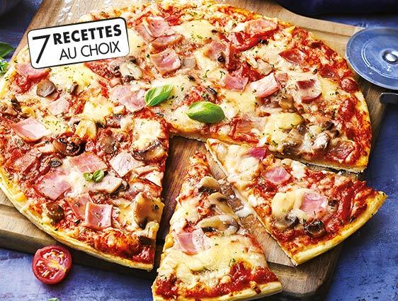 Pizzas en promotion - 2 recettes pizzas pâte fine au choix