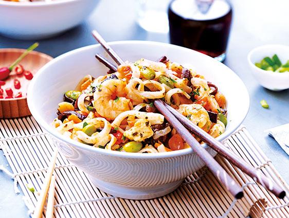 Plats cuisinés en promotion - Pad thaï aux crevettes