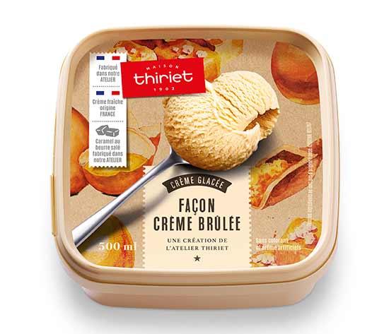 Crème glacée façon crème brûlée