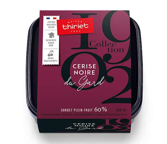 Sorbet Plein Fruit Cerise noire du Gard Collection 1902