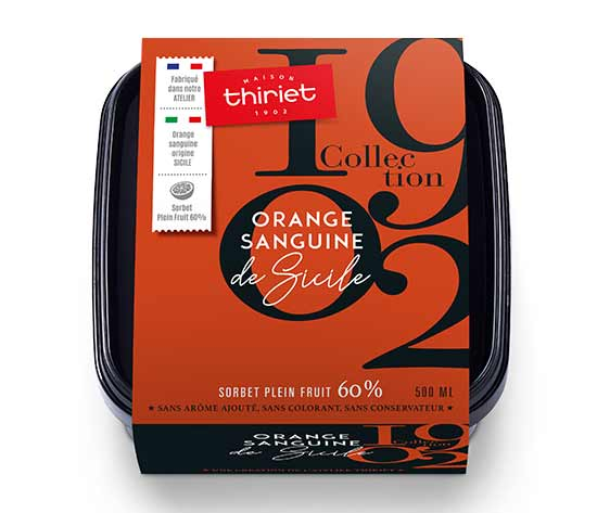 Sorbet Plein Fruit Orange sanguine de Sicile Collection 1902
