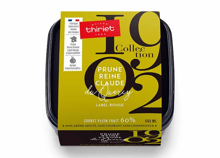 Sorbet Prune Reine Claude du Quercy Label Rouge