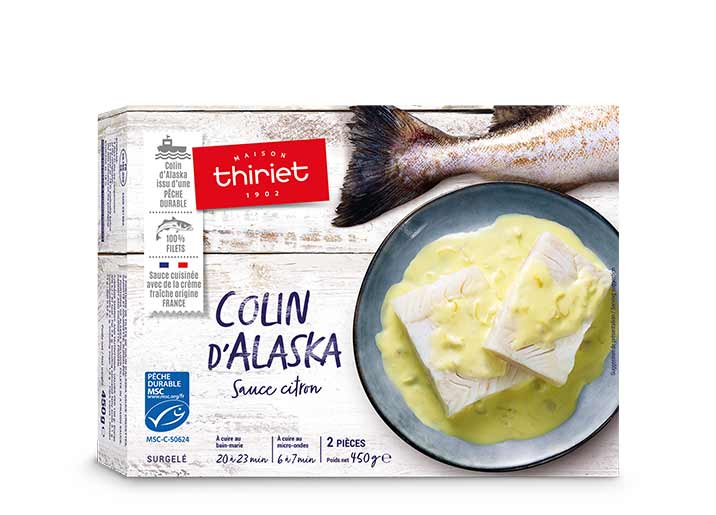 2 Portions filets colin d'Alaska sauce citron