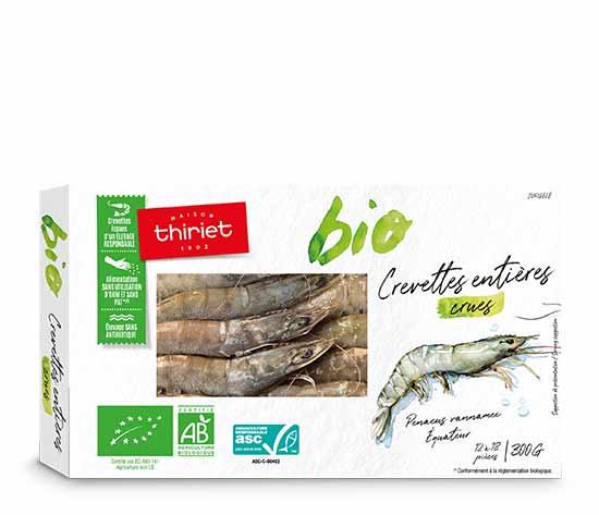 Crevettes entières crues Biologiques : la 2ème à -60%