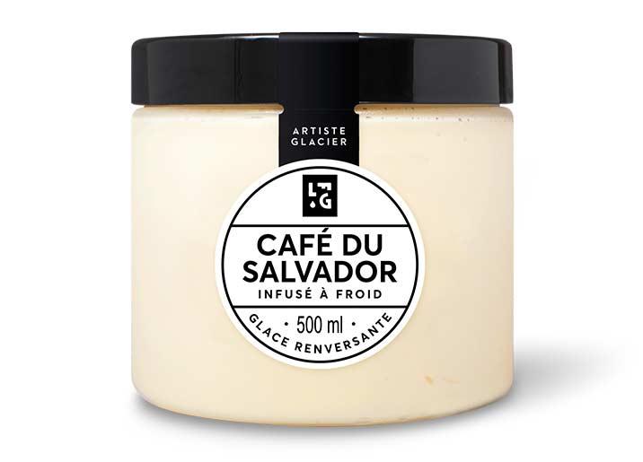 Crème glacée Café du Salvador infusé à froid