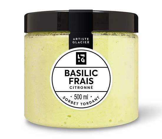 Sorbet Basilic frais citronné