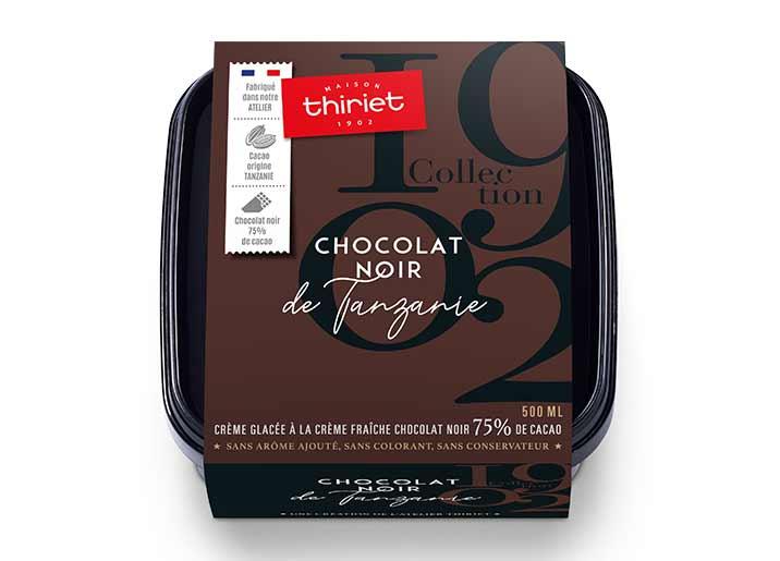 Crème glacée Chocolat Noir de Tanzanie Collection 1902