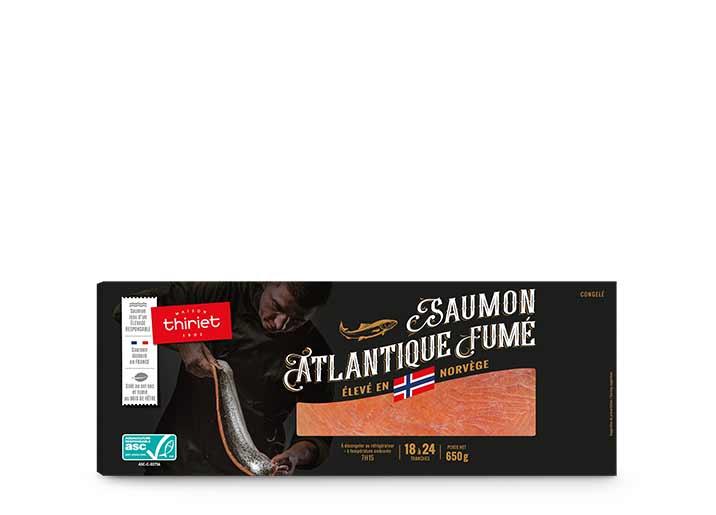Saumon Atlantique fumé 650 g - Norvège