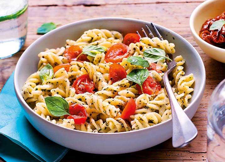 Fusilli tomate et sauce au basilic biologiques