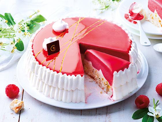 Desserts glacés en promotion - Vacherin frambroise nougat