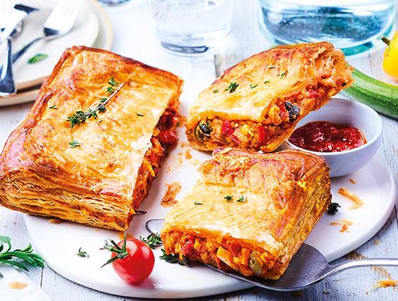 Entrées Snacking Tartes - Feuilletés légumes du soleil mozzarella en promotion