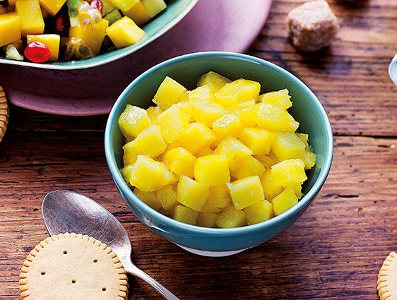 Fruits - Ananas Victoria en cube