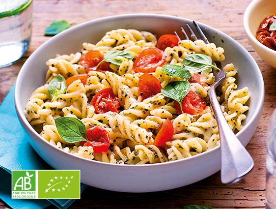 Plats cuisinés - Fusilli tomate et sauce au basilic biologiques