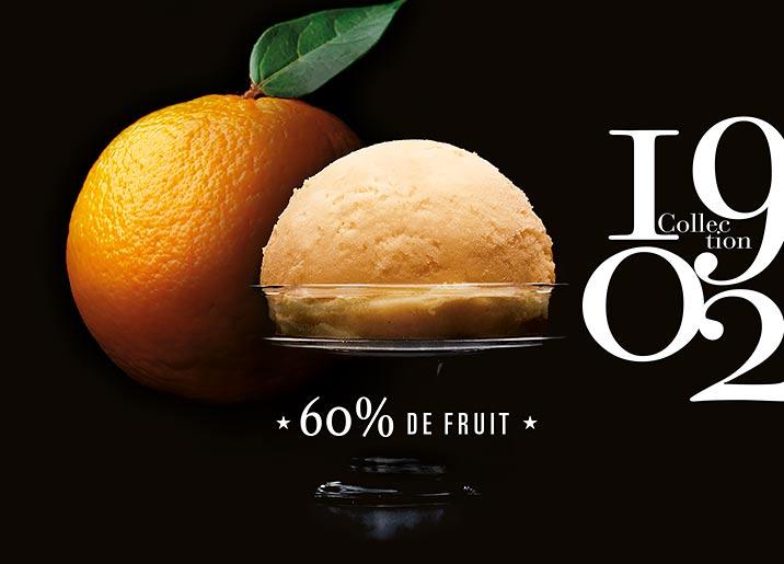 Sorbet Plein Fruit Mandarine de Sicile Collection 1902