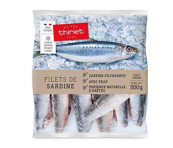 Filets de sardine avec peau