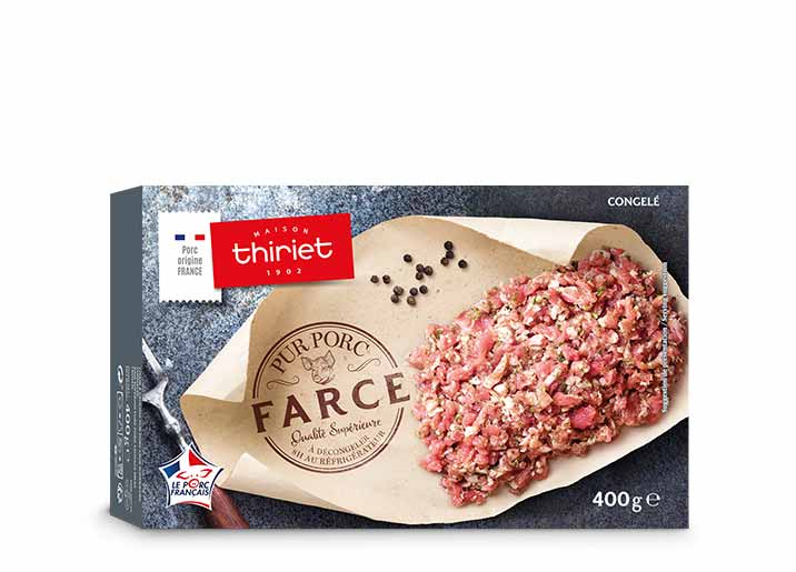 Farce pur porc qualité supérieure