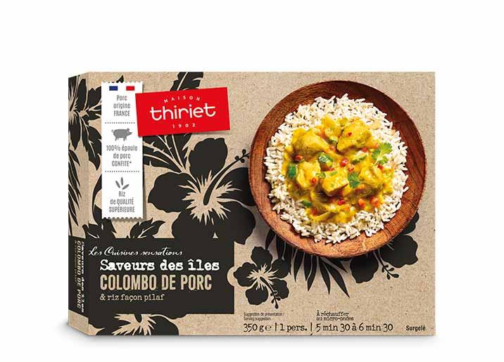 Colombo de porc et riz façon pilaf