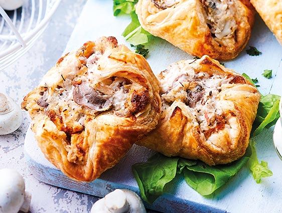 Feuilletés - Les 16 Paniers poulet-champignons