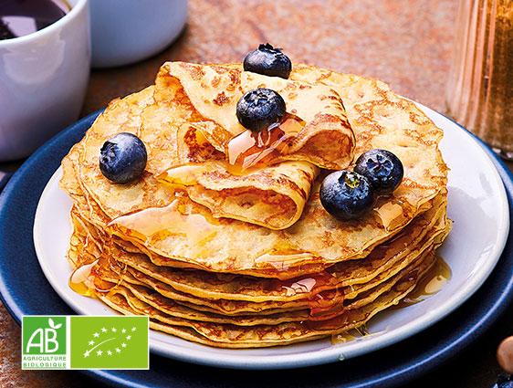 Crêpes en promotion - 8 mini crêpes au sucre de canne biologiques