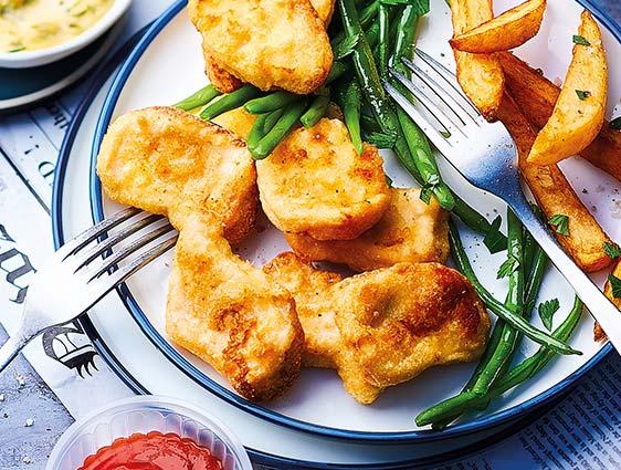 Viandes panées - Nuggets de poulet maxi format