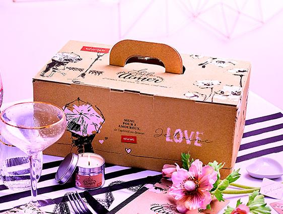 Idée dîner pour les amoureux - La Boîte à aimer™