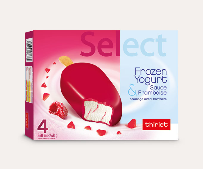 4 Select™ Frozen Yogurt framboise