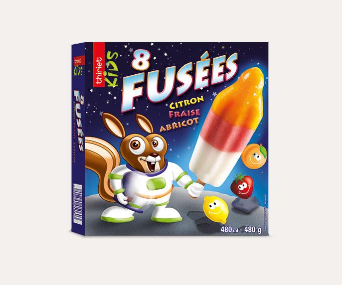 8 Fusées citron fraise abricot