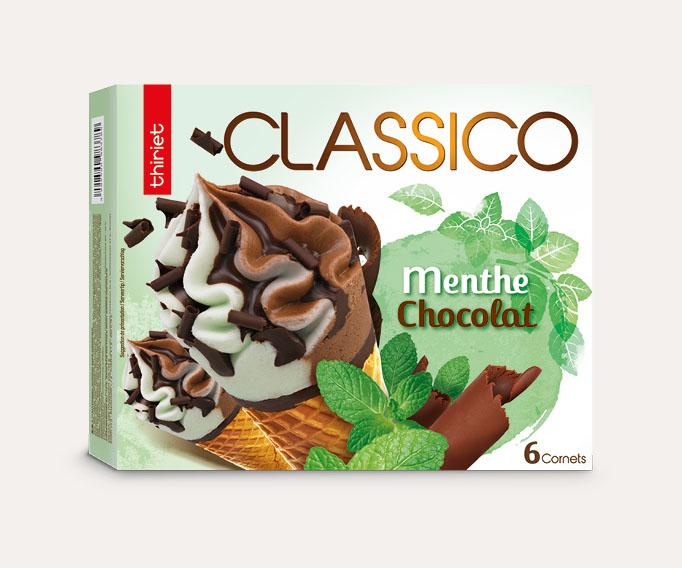 6 Cornets Classico Menthe/Chocolat
