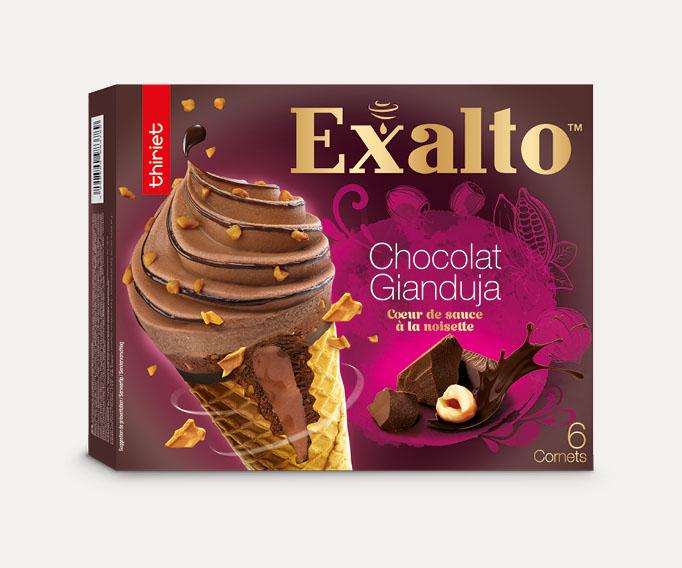 6 Cornets Exalto™ Chocolat/Gianduja