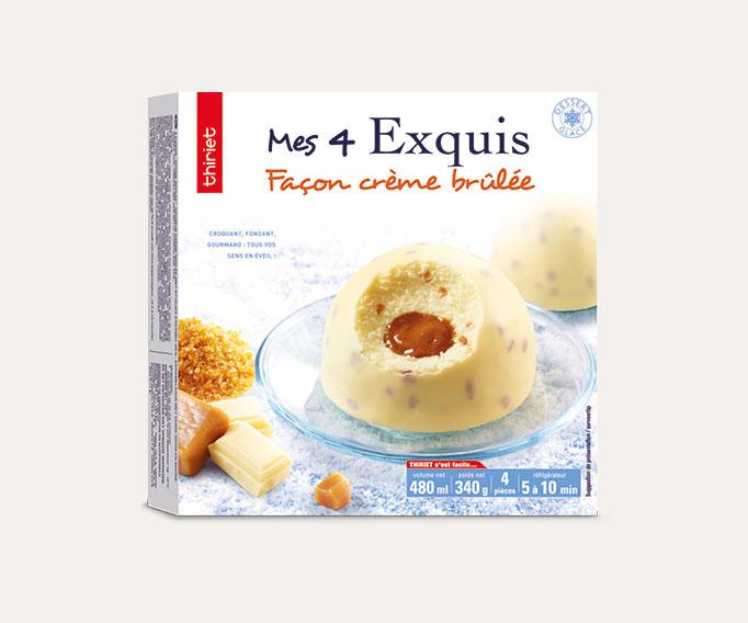 4 Exquis Façon crème brûlée