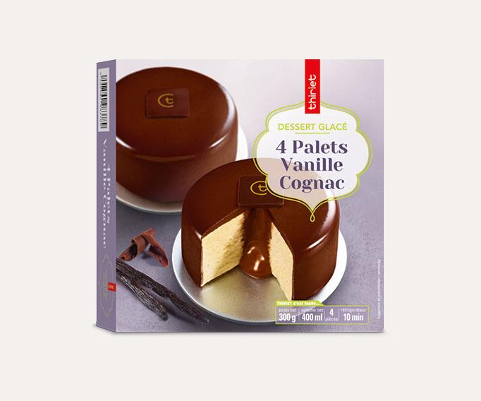 4 Palets vanille/Cognac