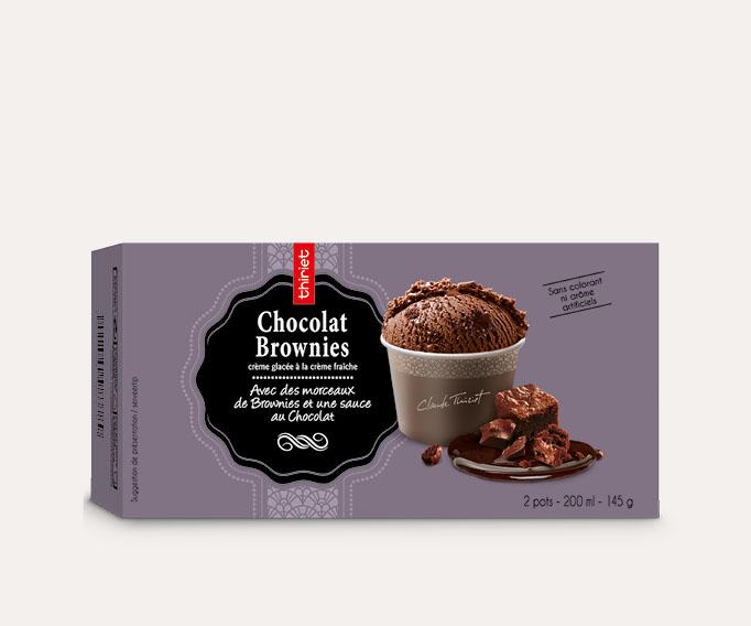 2 Pots individuels Chocolat brownies