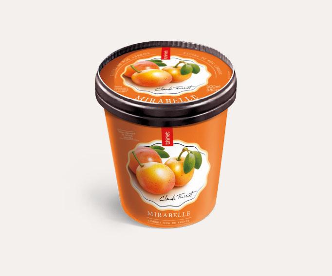 Pot Sorbet Plein Fruit Mirabelle origine Lorraine