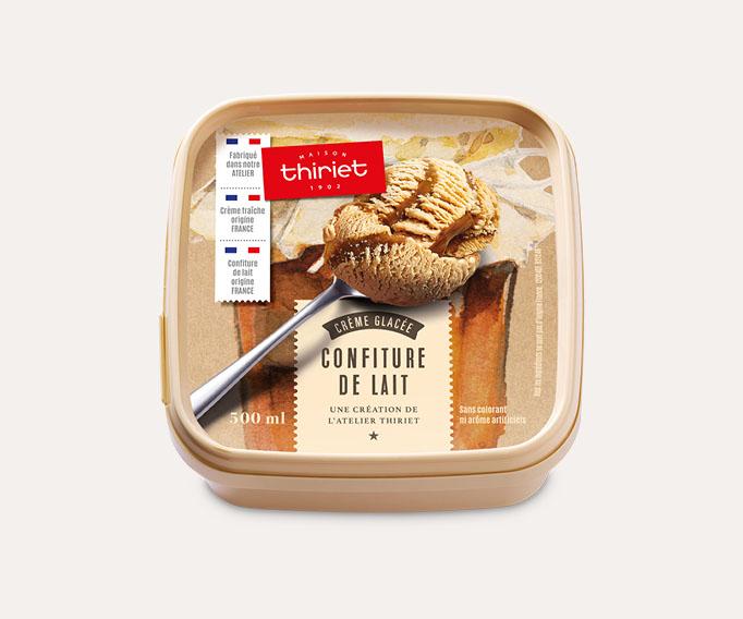 Crème glacée Confiture de lait avec marbrures