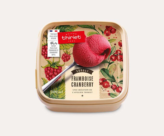 Sorbet Plein Fruit Framboise - Cranberry