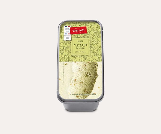 Glace pistache avec éclats de pistache