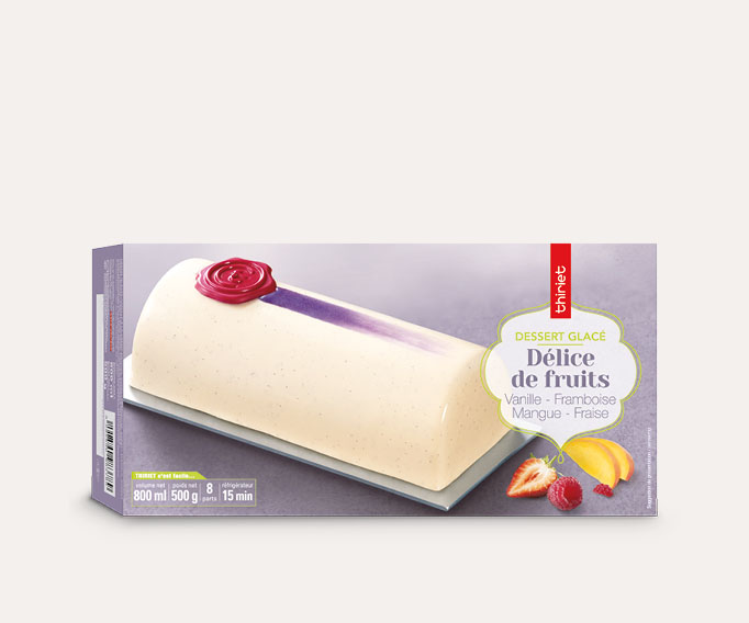 Délice de fruits vanille framboise mangue fraise