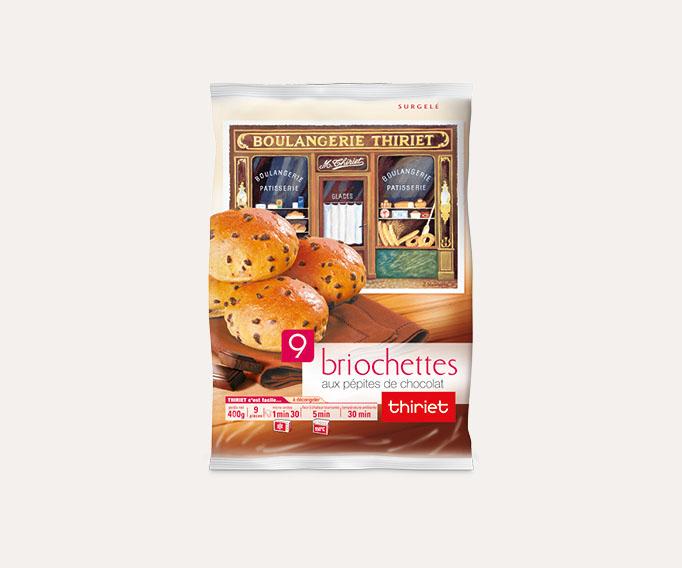 9 Briochettes pur beurre aux pépites de chocolat