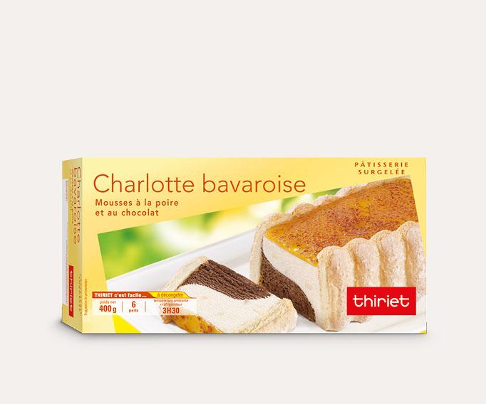 Charlotte bavaroise poire/chocolat