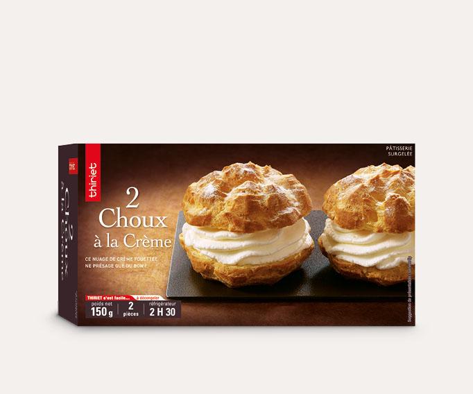 2 Choux à la crème Lot de 2 boîtes