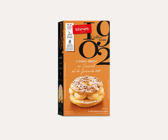 2 Paris-Brest au caramel - sel de Guérande IGP*