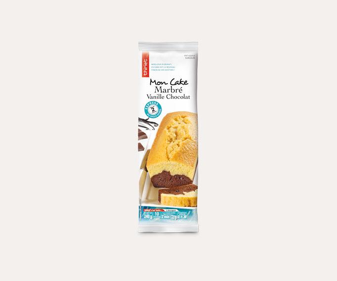 Cake marbré vanille/chocolat