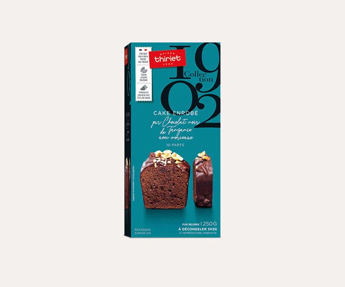 Cake enrobé au chocolat noir de Tanzanie