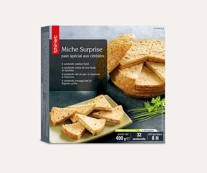 Miche surprise pain spécial aux céréales