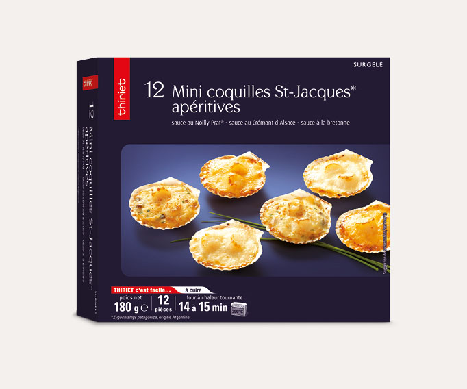 12 Mini coquilles St-Jacques apéritives